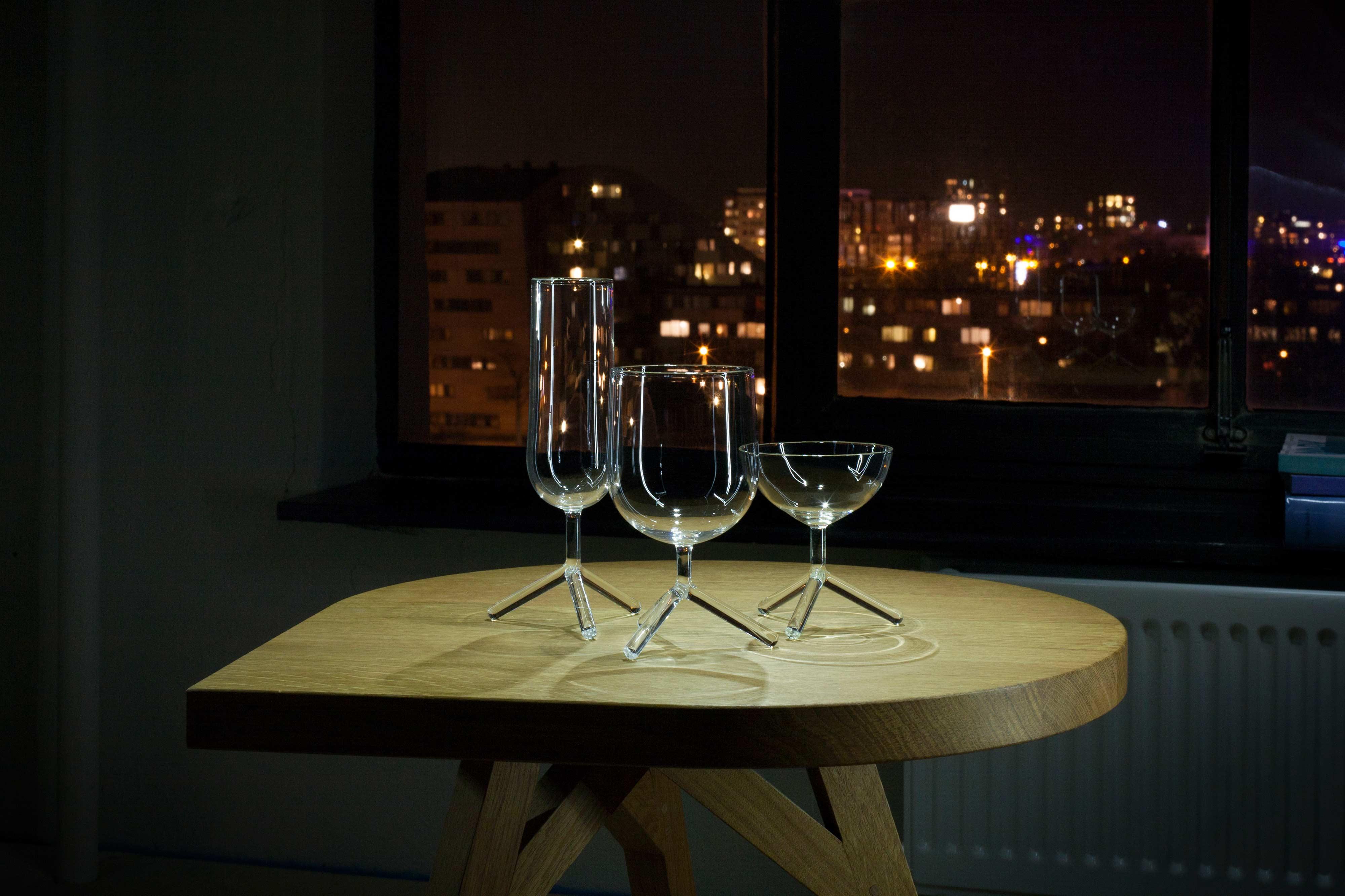 Tripod Glasses by Maarten Baptist