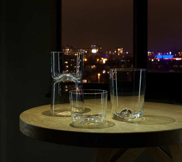 WAVE crystal drinking glasses