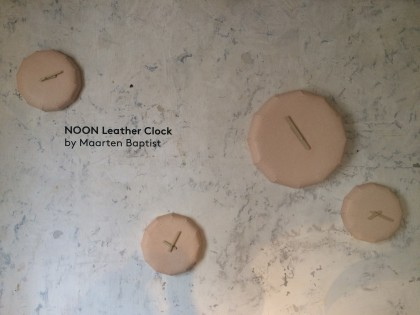 NOON leather wall clock